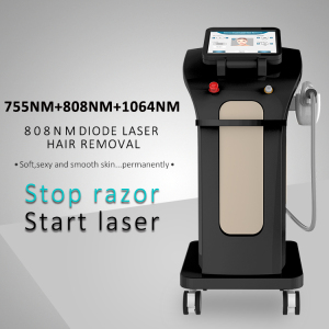2020 Newest 3 wavelengths hair removal 755 808 1064 diode laser clinic spa use