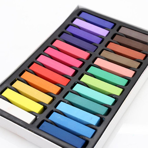 Beauty Hair Chalk - Set of 24 Color Sticks of Temporary Nontoxic Hair Dye You Color on - No Messy Rinses or Creams
