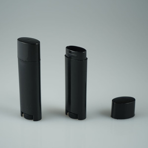 BPA FREE black 4.5g oval twist lipstick tubes / lip balm containers / chapstick tubes for lip