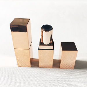 Hot Sale Luxury Rose Gold Square Lipstick Tube