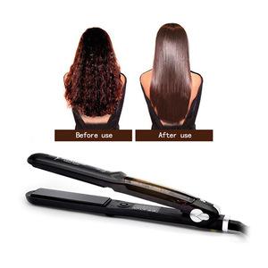 Hot selling adjustable temperature steam style hair straightener