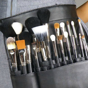 Studio color makeup teachers fan-pack multi-function makeup with 22 high-capacity PU cosmetic brush bag empty bag