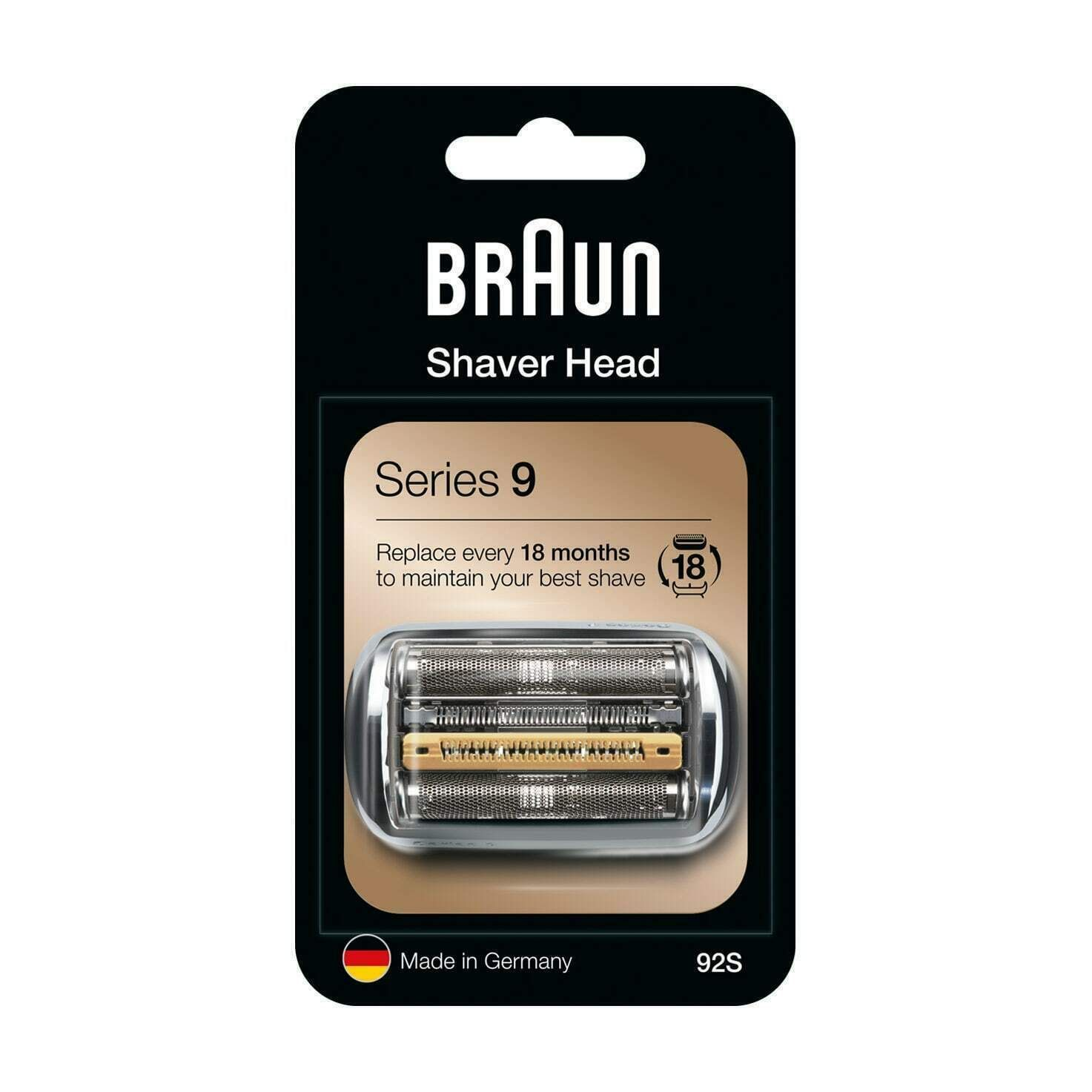 Braun 92S Series 9 Electric Shaver Head Replacement - Silver