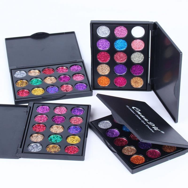 15 Colors Glitter Eyeshadow Sequins Shimmer Shiny Powder Palette Eyeshadow Cosmetic Waterproof Eye Shadow Powder Eyes MakeupTSLM