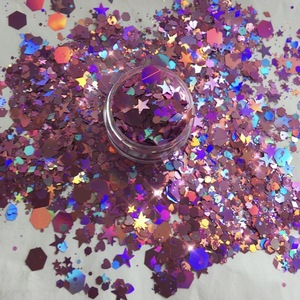 2018 mixed PET hexagon cosmetic body chunky glitter