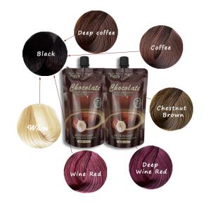 Herbal Organic Hair Dye Natural Anti Grey Hair Dye Shampoo Private Label Permanent Hair Color Cream 500ml*2