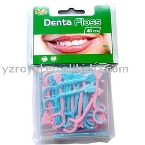 Kid Dental Floss picks C2040A (FDA) & 40 pcs kid dental floss picks/box
