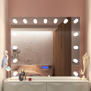 Luxury Hollywood Mirror Vanity Lighted Table Hollywood Makeup Mirrors with speaker