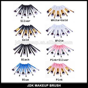 New 10 PCS professional makeup brush set with synthetic hair
