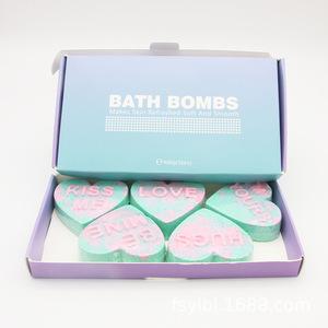 New OEM Cute Creative Gifts Heart-shaped Bubble Bath Salt Ball Oil Explosion Bombs