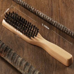 Novel and Fashion design with customized wood bristl hair brush mens stiff boar bristles brush