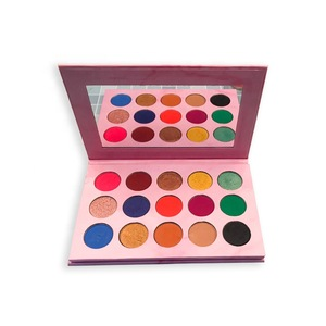 OEM trending hot products cosmetic makeup empty palette pink marlble 15 colors empty eyeshadow palette private label