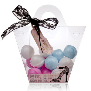 Private Label Color Cake Shape Fizzy Bath Bombs