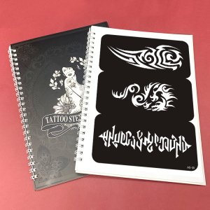 Tattoo stencil sticker booklet A5 size 10 pages over 200 tattoo stencil stickers