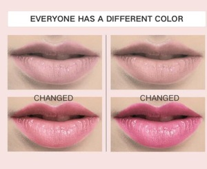temperature change color lip balm