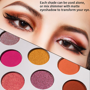 Wholesale fashionable makeup private label waterproof 18 colors diamond eyeshadow palette