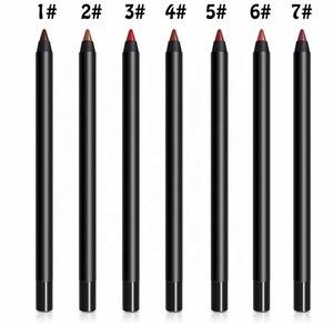 7 Colors Longlasting Private Label Makeup Pencil Lip Liner