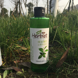 All Natural green tea and peppermint itching shower gel