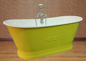 Beautiful Color Freestanding Cast Iron Bath /301A+ Porcelain Powder Skirted Cast Iron Bath Tub NH-1008-11