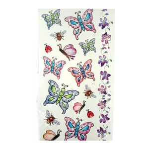 cartoon butterfly sticker tattoo waterproof tattoo sticker
