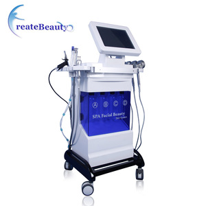 guangzhou Newest beauty machine multifunction facial machine Hydra +oxygen+BIO+skin scrubber+PDT for skin care