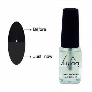 LULAA Hot sale 6ml/bottle Nail Gel Polish Nail Art Finish Top Coat Matt transparent nail polish