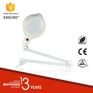 New Adjustable Glass Magnifying lamp with Clamp
