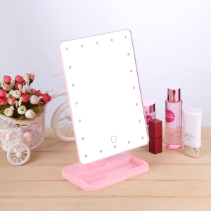 New gadgets 22led Led light make up mirror/Led table mirror with touch control switch
