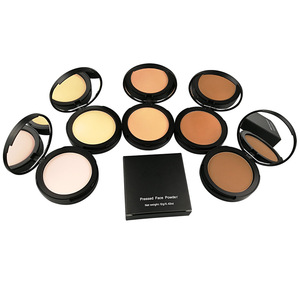 Trade Assurance Face powder  Full Coverage Soft Makeup Pressed Powder With Mirror Pressed Powder