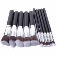 10pcs Makeup Brushes Set Tools Powder Foundation Eyeshadow Make Up Brushes Cosmetics Soft Synthetic Hair and Sponge