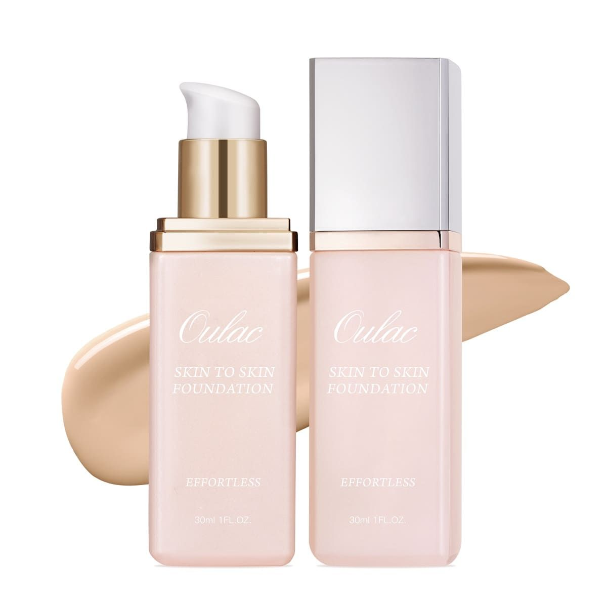 OULAC skin to skin foundation  hot selling cosmetic face makeup cruelty free flawless smooth and moisturizing high concealment