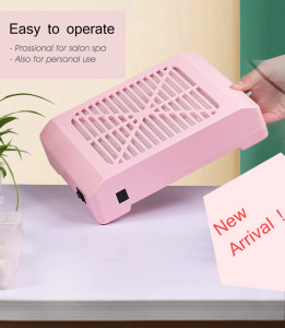 Dust Vacuum 24W/36W Strong Acrylic Pink Nail Dust Collector Rechargeable