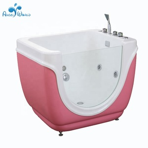 Kids spa supplies wholesale acrylic baby swim bath tub with bubble