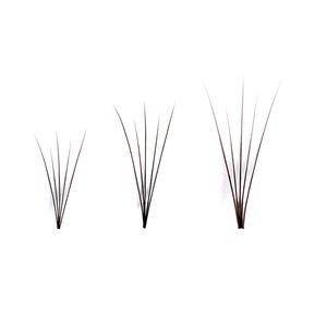 Korean professional Makeup Individual Cluster 5 Strips Cluster Mink Eyelashes Grafting False Eyelashes