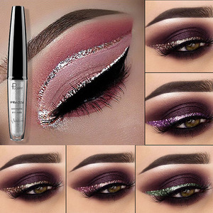Liquid Glitter Eyeliner Maquiagem Profissional Metallic Silver Waterproof Shimmer Eyeliner for Eyeshadow Eyes Makeup