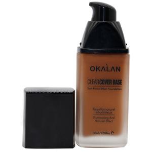OKALAN O002 Long lasting Concealer Foundation Makeup Liquid Glass Bottle Foundation Cream Natural Effect Makeup Foundation