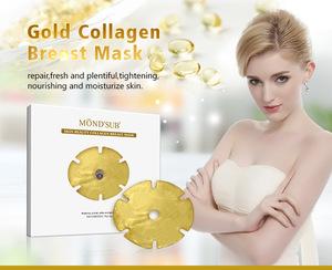 Professional skin care formula gel anti-aging custom firming masks white lifting gold collagen crystal breast mask