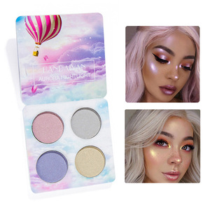 2 styles 4 Colors Professional Natural Bright Eye Shadow Palette Shimmer Makeup Concealer Beauty Waterproof sparkly eye shadow