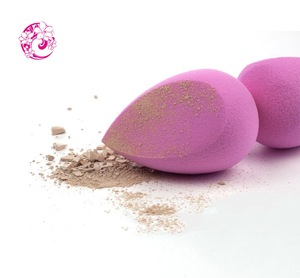 2017 hot Sell Colorful Water Droplets Shape Cosmetic Powder Foundation Sponge Puff makeup sponge