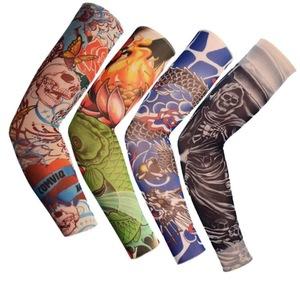 2019 Nylon Temporary Tattoo Sleeves Designs Body Art Arm Stockings Slip Accessories Tatoo Men Women for Sun Protection
