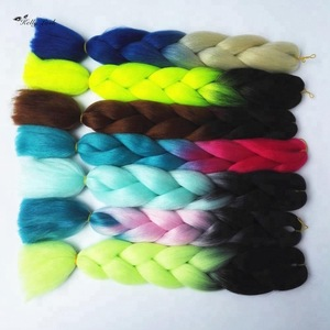 All color in stock 100g 24inch ombre Africa extension jumbo braid synthetic hair