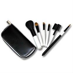 Black & White Travel Zip Brush Set