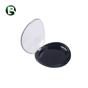 Factory supply cosmetic packaging OEM multicolor plastic empty compact powder case