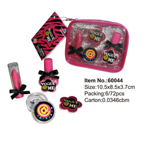 Kids makeup set with glitter cosmetic bag