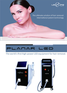 Leaflife factory produced new patent technology diode laser LED light hair removal machine