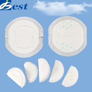Massive instantaneous absorption SAP breast pad