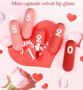 New design Mini capsule velvet Lip Gloss Cosmetics Moisturizing Liquid  Lipstick  lip gloss private label
