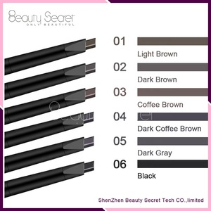 OEM Private Label High quality 6 Colors Eyebrow Pencil Multi colors Wholesale Waterproof Eyebrow Pencil