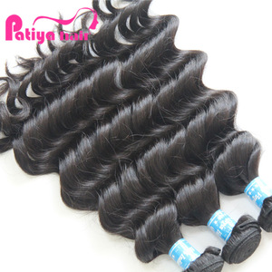 Search Patiya 10 year hair company, 9a grade machine made double weft full ends indian wavy hair extensions