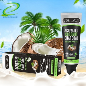 UONOFO private label cool advance rapid white tooth charcoal toothpaste activated coconut charcoal teeth whitening toothpaste